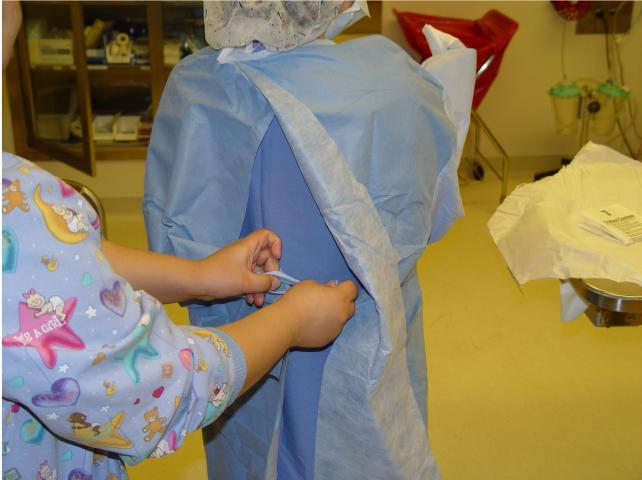 Putting on a Sterile Gown